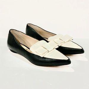 Sam edelman CAREY 7.5 M leather flats black white